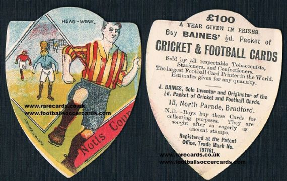 1890s Notts County Baines footer card